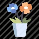 blossom, flora, flower, garden, nature, plant, pot icon
