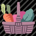 basket, food, garden, gardening, harvest, organic, vegetable icon