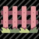 fence, garden, grass, outdoor, wall, wood