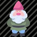 decoration, dwarf, garden, gardening, gnome, hat icon