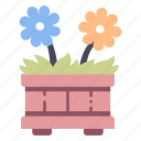 bloom, flora, flower, flowerpot, plant, pot icon