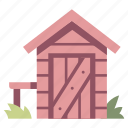 garden, house, shed, storage, tool, wood icon