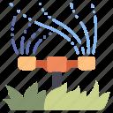 garden, grass, lawn, outdoor, spray, sprinkler, water icon