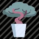 bonsai, branch, garden, plant, pot, tree icon