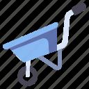 barrow, equipment, farm, garden, gardening, wheel, wheelbarrow icon