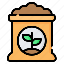 fertilizer, fertilization, bag, sack, gardening