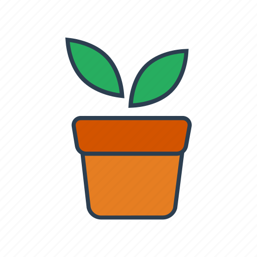 gardening, growth, leaves, plant, pot icon