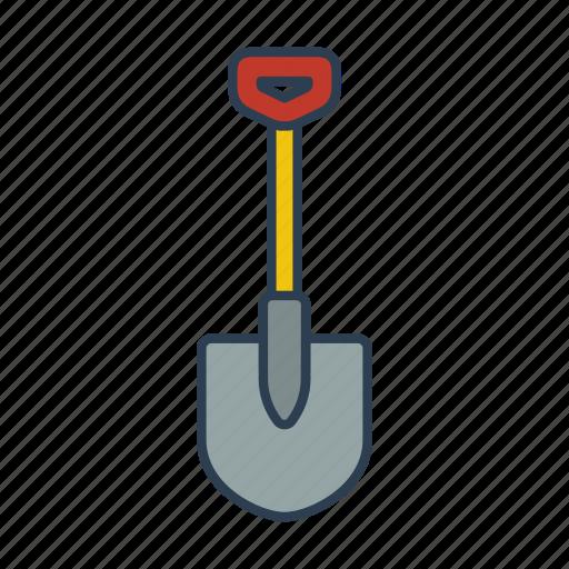 digging, equipment, gardening, gardening tools, shovel, work icon