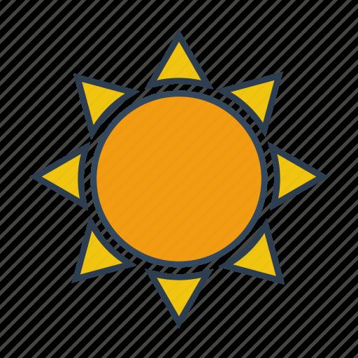 day, gardening, hot, sun, sunlight, sunny, weather icon