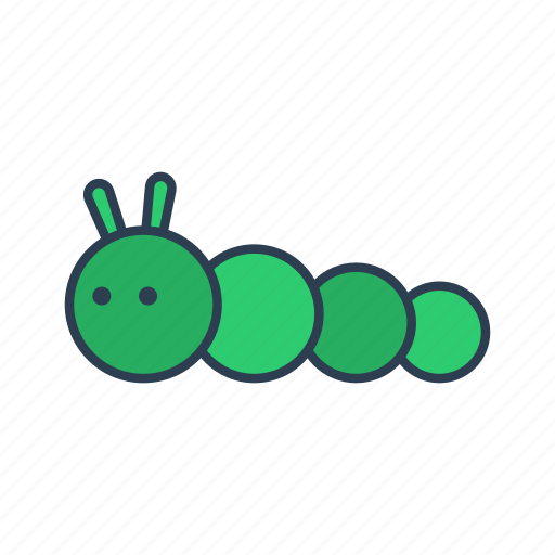 caterpillar, environment, gardening, insect, nature icon