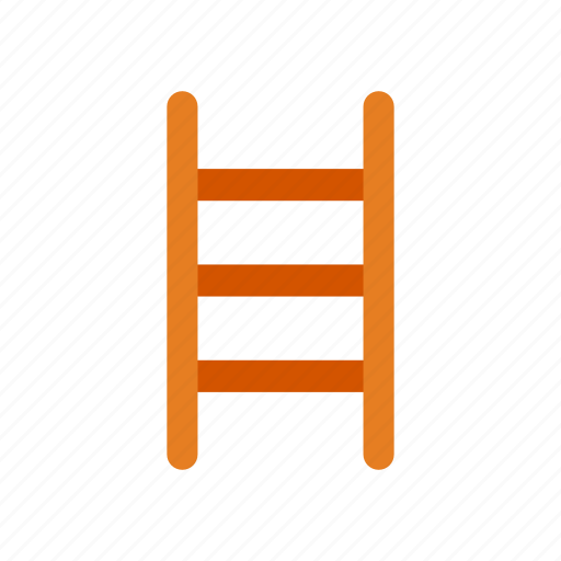 gardening, ladder, stairs, steps, up icon