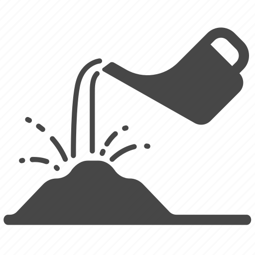 cultivation, gardening, pouring, sprinkling, water, watering, watering can icon
