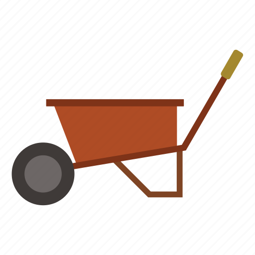 garden, gardening, nature, tool, wheelbarrow, work icon