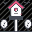 bird house, bird, feeder, bird feeder icon