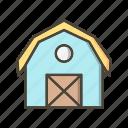 barn, house, silo