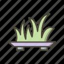 garden, grass, plant icon
