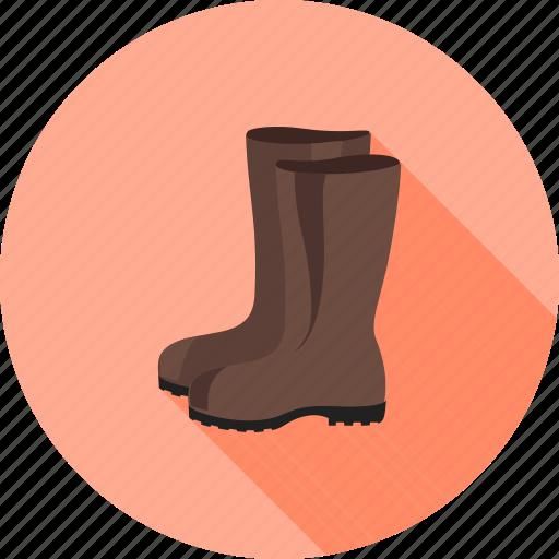 boots, footwear, garden, gardening, rain, rubber, waterproof icon