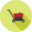 lawn, mower, landscaping, green, riding, grass, tractor icon