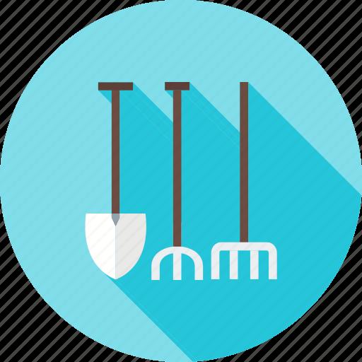 fork, garden, gardening, lawn, maintenance, spade, tools icon