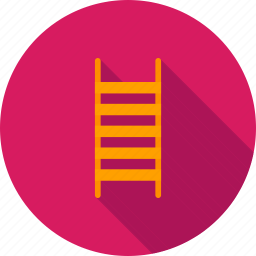 high, improvement, ladder, ladders, staircase, stairs, wall icon