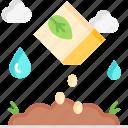 growing seed, seed, botanical, yard, sprout, gardening, growing icon