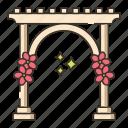 arbor, arch, entrance
