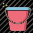 bucket, gardening, water