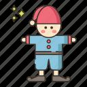 dwarf, garden, gnome, statue icon