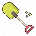 gardening, shovel, spade