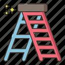 ladder, stairs, stepladder