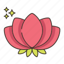 flower, lily, water icon