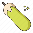 food, vegetable, zucchini icon
