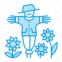 farm, farming, gardening, scarecrow icon