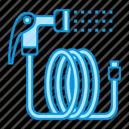 garden, gardening, hose icon