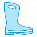 boots, gardening, rubber icon