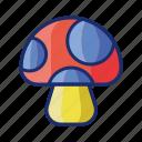 food, fungi, mushroom, vegetable icon