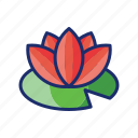 flower, lily, plant, water icon