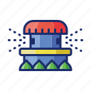 grass, sprinkler, water icon