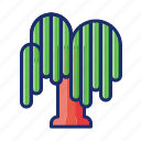 plant, tree, weeping, willow icon