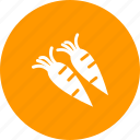 carrot, carrots, food, fresh, healthy, nature, red icon