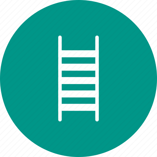 high, ladder, ladders, staircase, stairs, step, wall icon