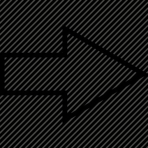 arrow, arrows, right, rotate icon