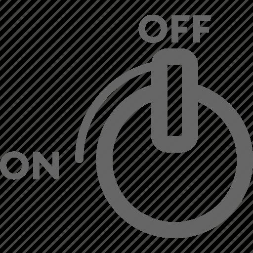 control, gas, off, on, switch, twist icon