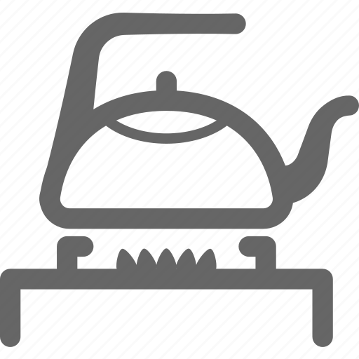 boil, burner, cooking, flames, hot, pot, water icon