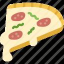 fast food, food, pizza, slice, tasty icon