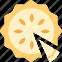 food, pie, slice, sugar, sweet icon