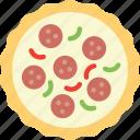 fast food, food, pizza, salami, tasty icon