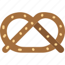 food, pretzel, pretzels, salt, sweet icon