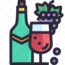 drink, grape, party, wine icon