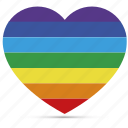 gay, heart, homosexual, lesbian, love, rainbow, valentine icon